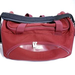 Retro Samsonite Red Carry On Travel Duffle Bag